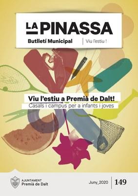 Les propostes d'estiu per a infants i joves, portada de La Pinassa 149