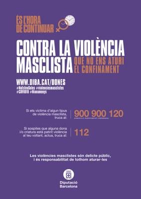 Les trucades al servei 900 900 120 contra la violència masclista s'han incrementat un 88% en confinament