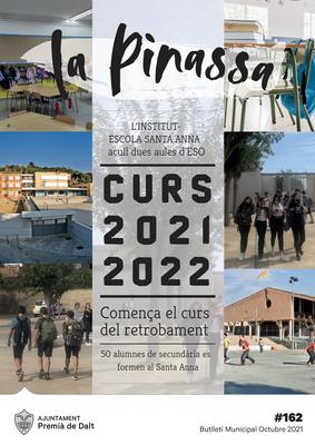 L'inici del curs escolar 2021-22, portada de La Pinassa del mes d'octubre