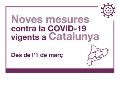 Mesures per a la contenció de la COVID-19 aplicables a partir de l'1 de març a Catalunya
