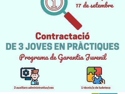 Nova convocatòria del programa 'Joves en pràctiques' per treballar a l'Ajuntament