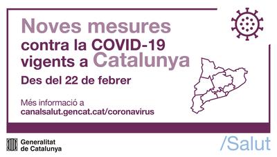 Noves mesures per a la contenció de la COVID-19 aplicables a partir del 22 de febrer a Catalunya