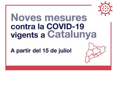 Noves mesures restrictives del 15 al 22 de juliol a tot Catalunya