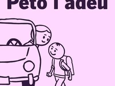 Petó i adéu per evitar embussos en deixar els nens a l'escola