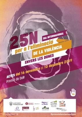 Premià de Dalt promou diferents actes entorn el Dia Internacional per a l'eliminació de la violència envers les dones