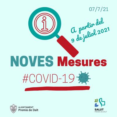 S'aproven noves mesures per contenir el creixement dels casos relacionats amb la Covid-19