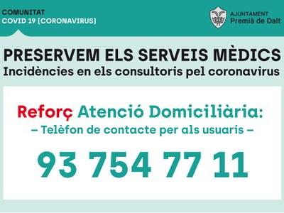 Salut tanca provisionalment els consultoris mèdics del Remei i Santa Anna per a disposar de més personal sanitari