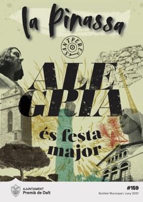 Sant Pere 2021, portada de la revista municipal numero 159
