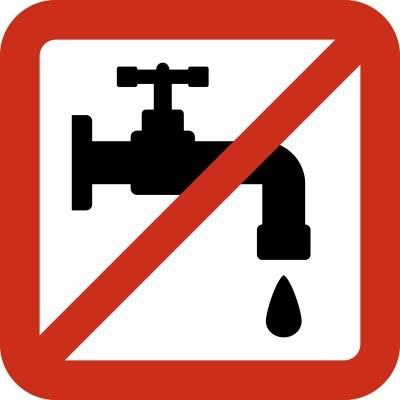 Tall de subministrament d'aigua avui 15 de febrer  al carrer Parc Güell