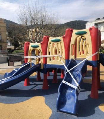 Tancament provisional de tots els parcs infantils i zones d'esbarjo del municipi
