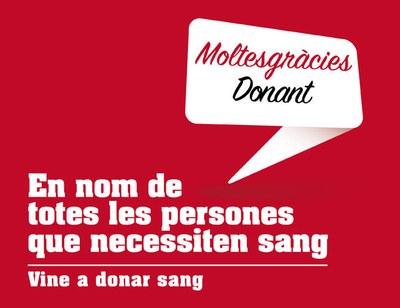 Vine a donar sang el diumenge 20 de gener!