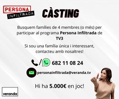 Voleu participar al programa 'Persona infiltrada' de TV3?